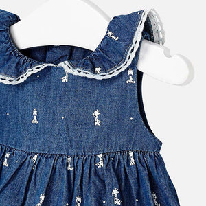 Mayoral Baby Girl Sleeveless Dress with Collar