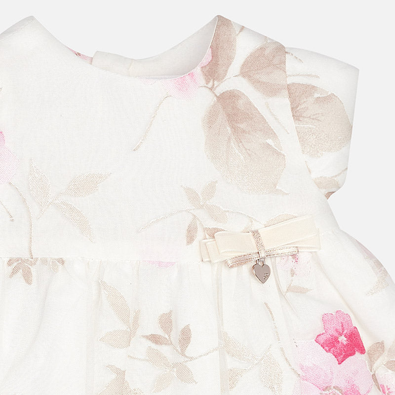 Mayoral Baby Girl Flower Dress with Knickers