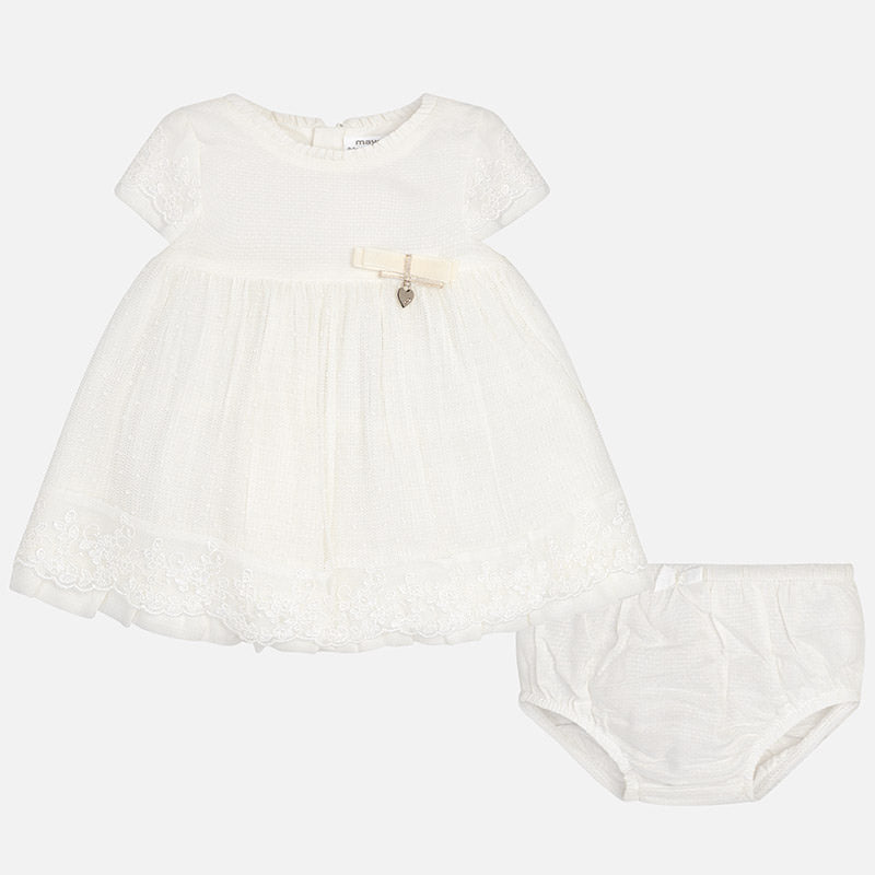 Mayoral Baby Girl Embroidered Tulle and Glitter Dress