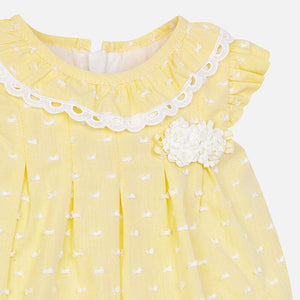 Mayoral Baby Girl Plumeti Dress with Knickers