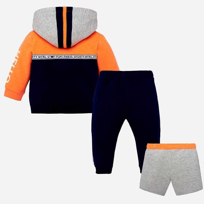 Mayoral Baby Boy 3-Piece Block Colour Tracksuit