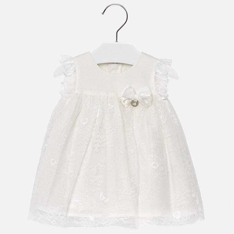 Mayoral Baby Girl Flared Lace Dress