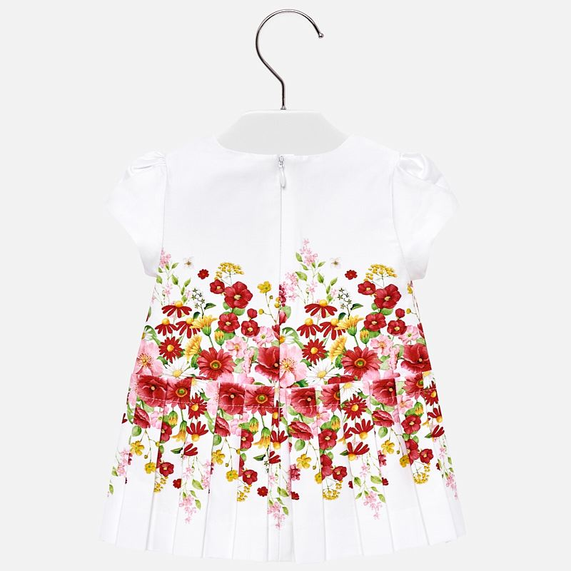 Mayoral Baby Girl Pleated Floral Dress