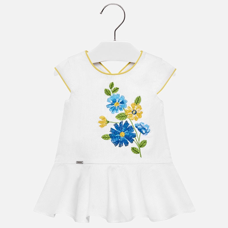 Mayoral Baby Girl Low Waist Embroidered Dress