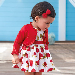 Mayoral Baby Girl Rose Dress with Sash