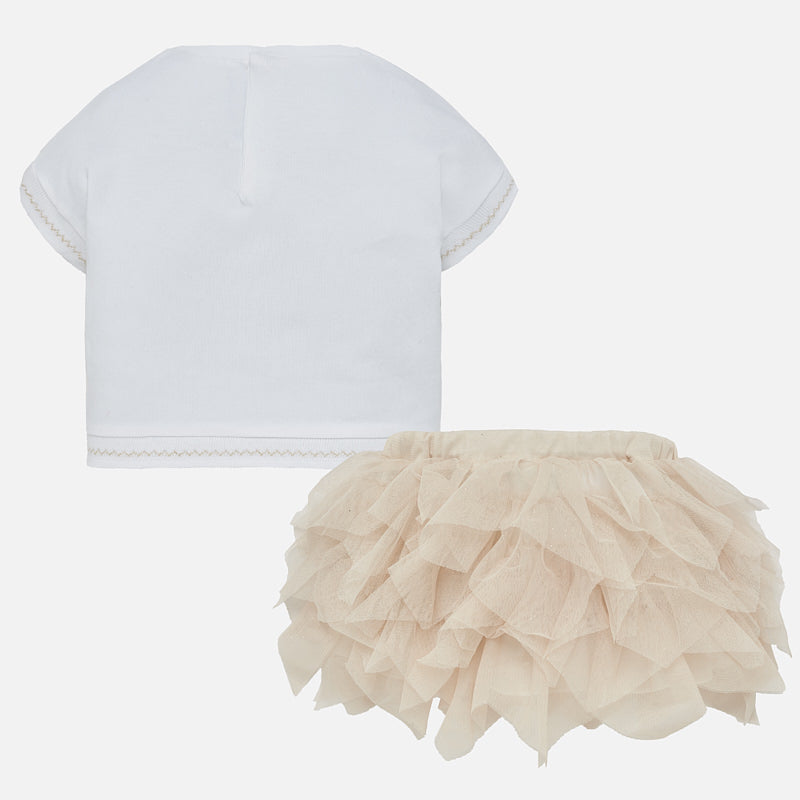 Mayoral Baby Girl T-Shirt and Tulle Skirt Set