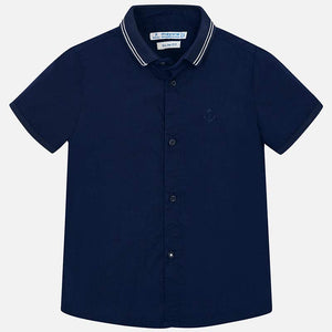 Mayoral Boy Short Sleeved Plain Shirt