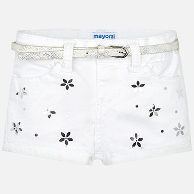 Mayoral Baby Girl Shorts with Belt