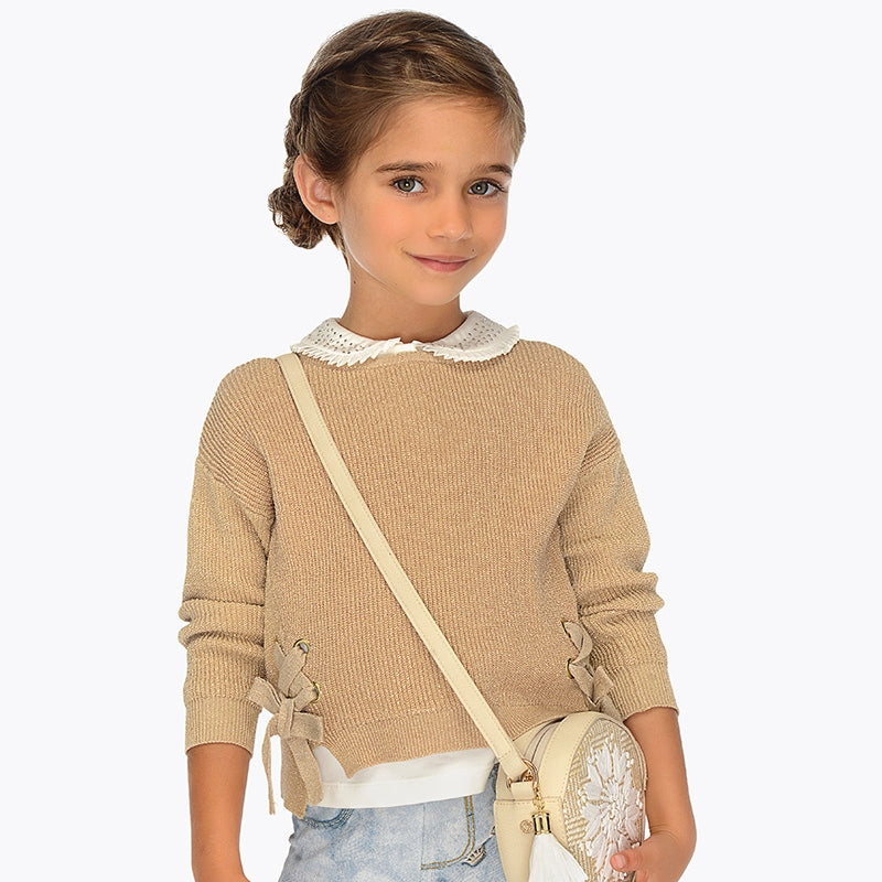 Mayoral Girl Ribbon Sweatshirt