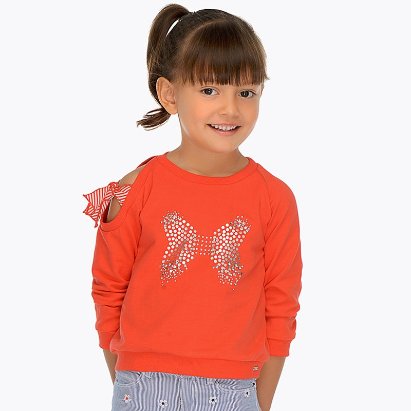 Mayoral Girl Bow Sweatshirt