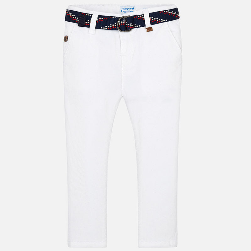 Mayoral Boy Slim Fit Trousers with Belt