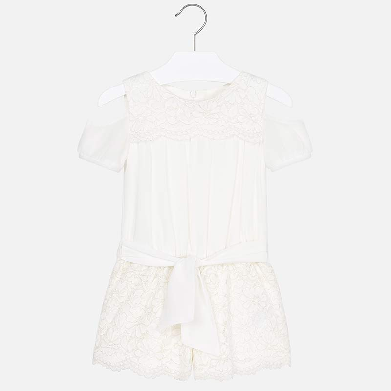 Mayoral Girl Short Lace Playsuit