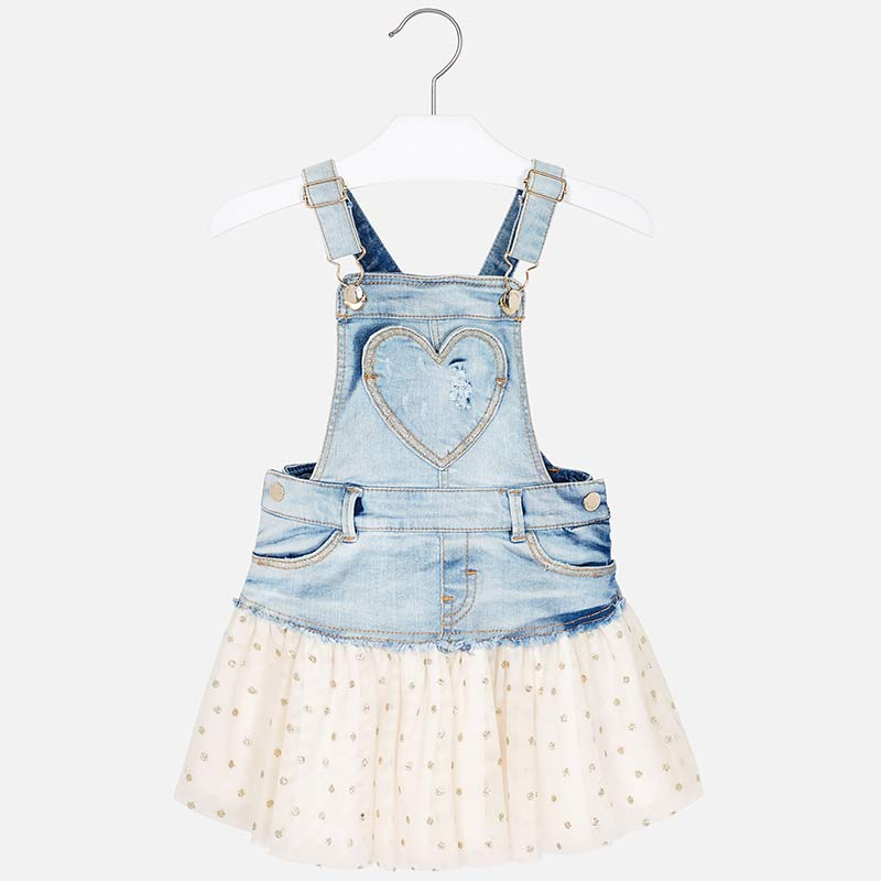 Mayoral Girl Combined Dungaree Skirt with Tulle