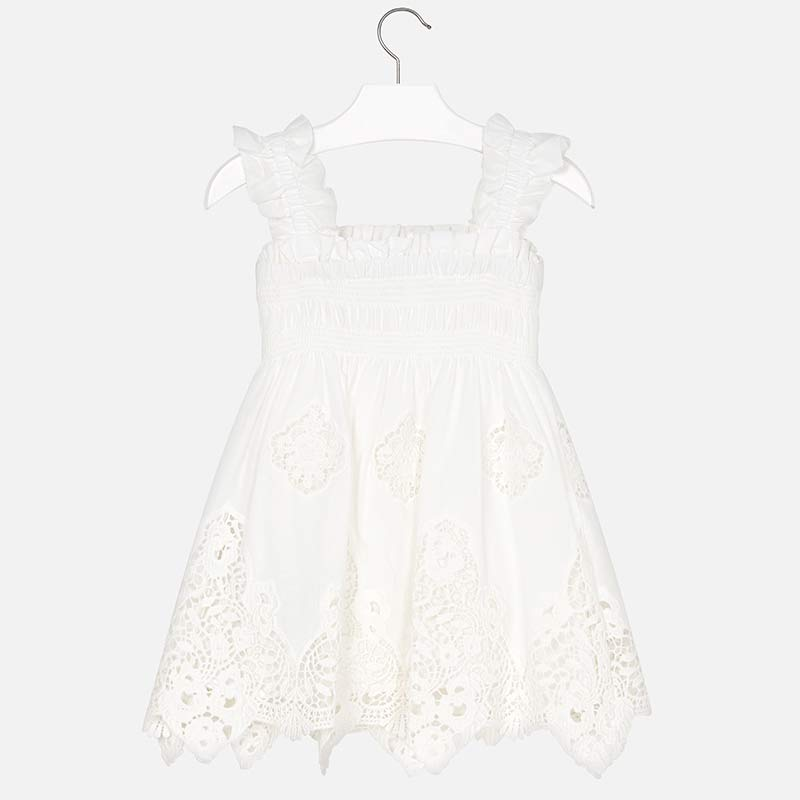 Mayoral Girl Embroidered Dress