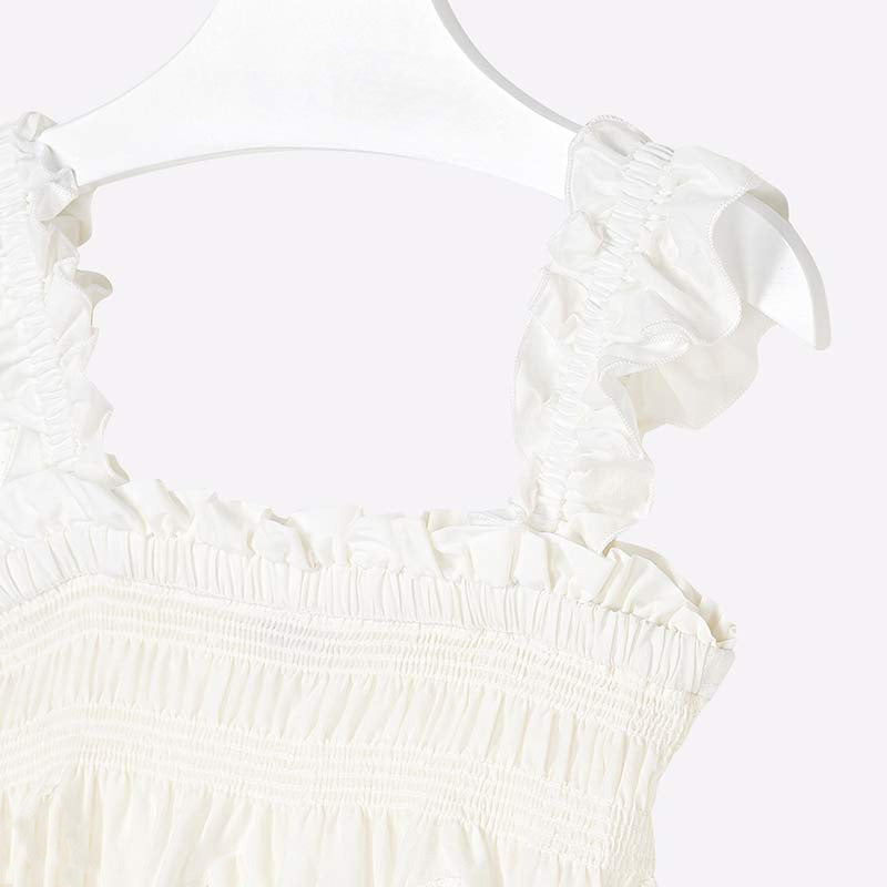 Mayoral Girl Strappy Blouse with Embroidery