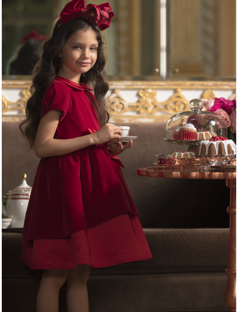 Patachou Girl Holiday Velvet Dress