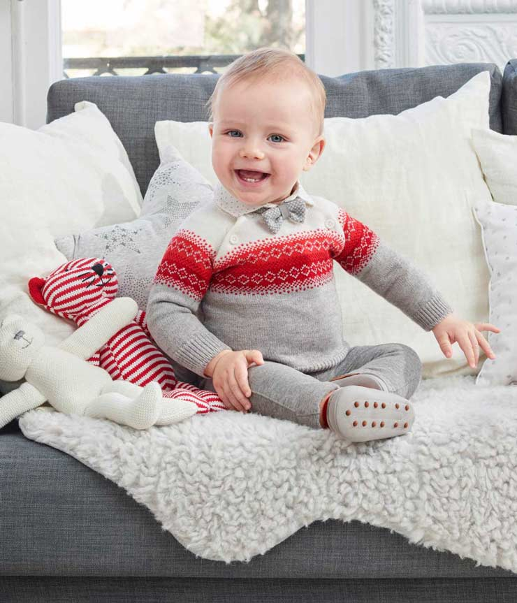 Baby Boy Jacquard Sweater