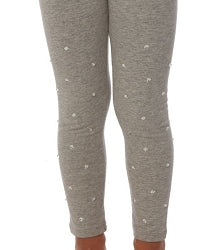 Biscotti Kate Mack Grey Heart Stone Leggings