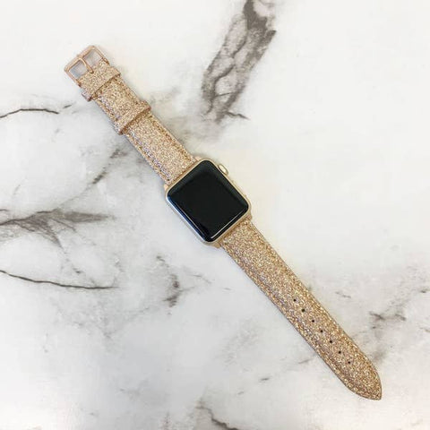 Gold Glitter Smart Watch Band
