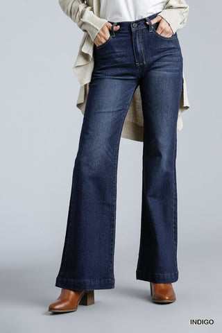 High Rise 5 Pocket Stretchy Flare Jeans