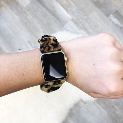 Leopard Print Scrunchie Watch Band