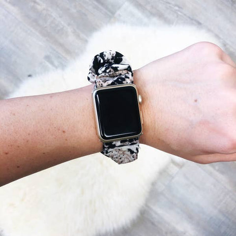 Snakeskin Print Scrunchie Watch Band