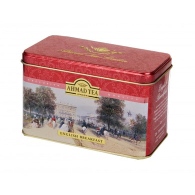 English Breakfast - 20 Stay Fresh Foil Wrapped Teabag Heritage Caddy
