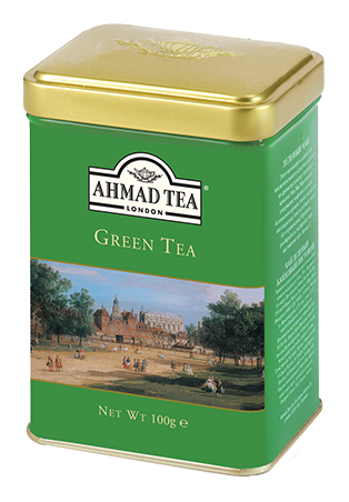 Green Tea 100g Loose Leaf English Scene Caddy