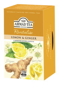 Lemon & Ginger Revitalise 20x2g Herbal Teabags