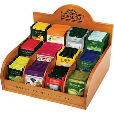12 Variety Wooden Teabag Dispenser