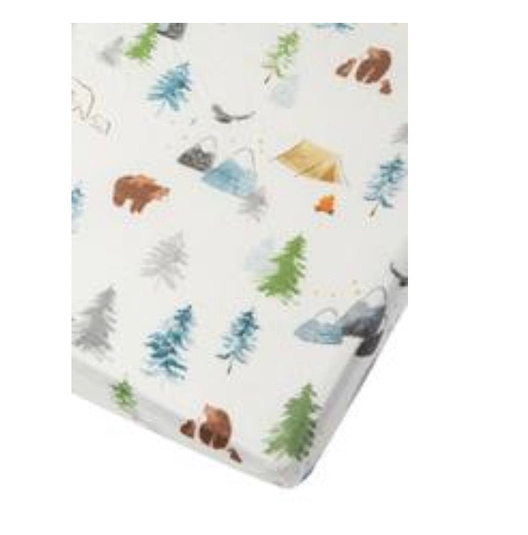 Adventure Begins Fitted Crib Sheet