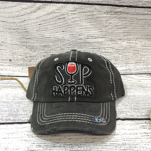 Sip happens baseball hat