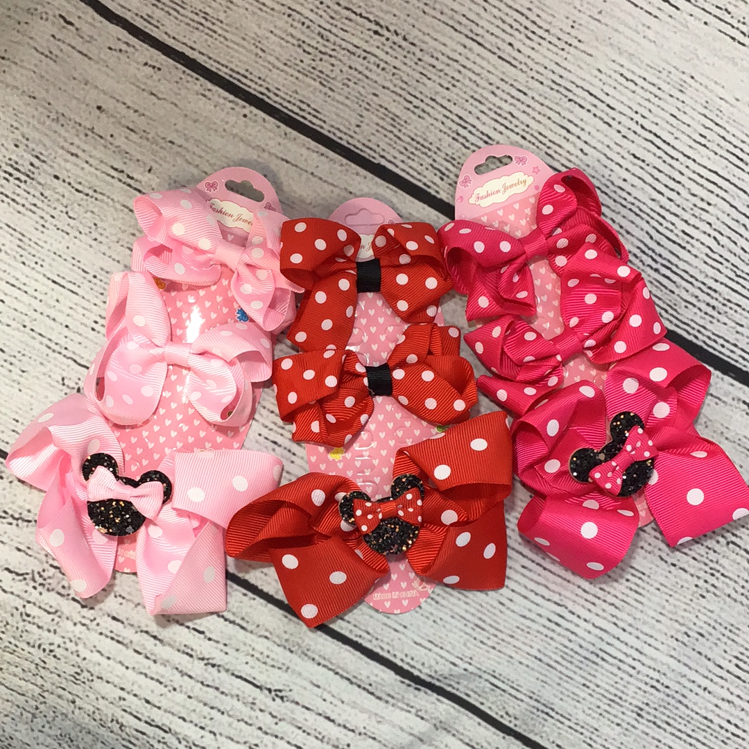 Minnie Mouse bow 3 pack