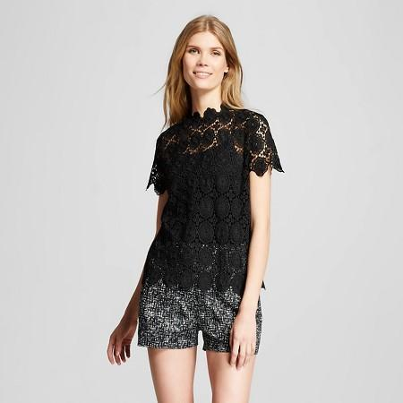 "<img src=""Merona.jpg"" alt=""Women's Clothing"" title=""HIgh Neck Lace Top""  / >"