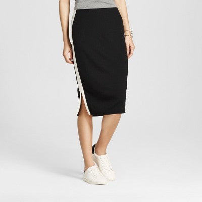 Mossimo Women's Side Stripe Midi Skirt - TheCheapBoutique, Skirts - Womensclothing, Mossimo - TheCheapBoutique, Mossimo Women's Side Stripe Midi Skirt - Juniors