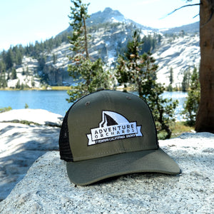 Adventure Orchards New Era Mist trail hat almonds almond butter milk snap back trucker ball cap embroidered half dome Yosemite