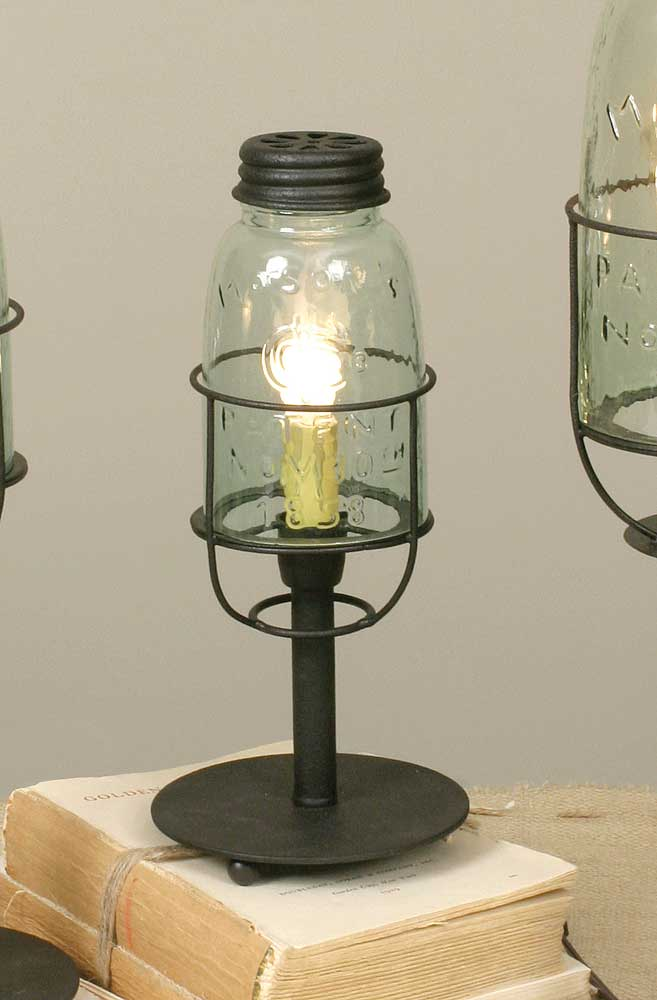 Mason Jar Desk Lamp
