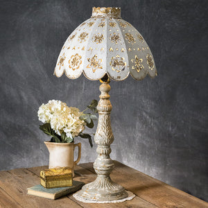 Table Lamp with Decorative Metal Shade