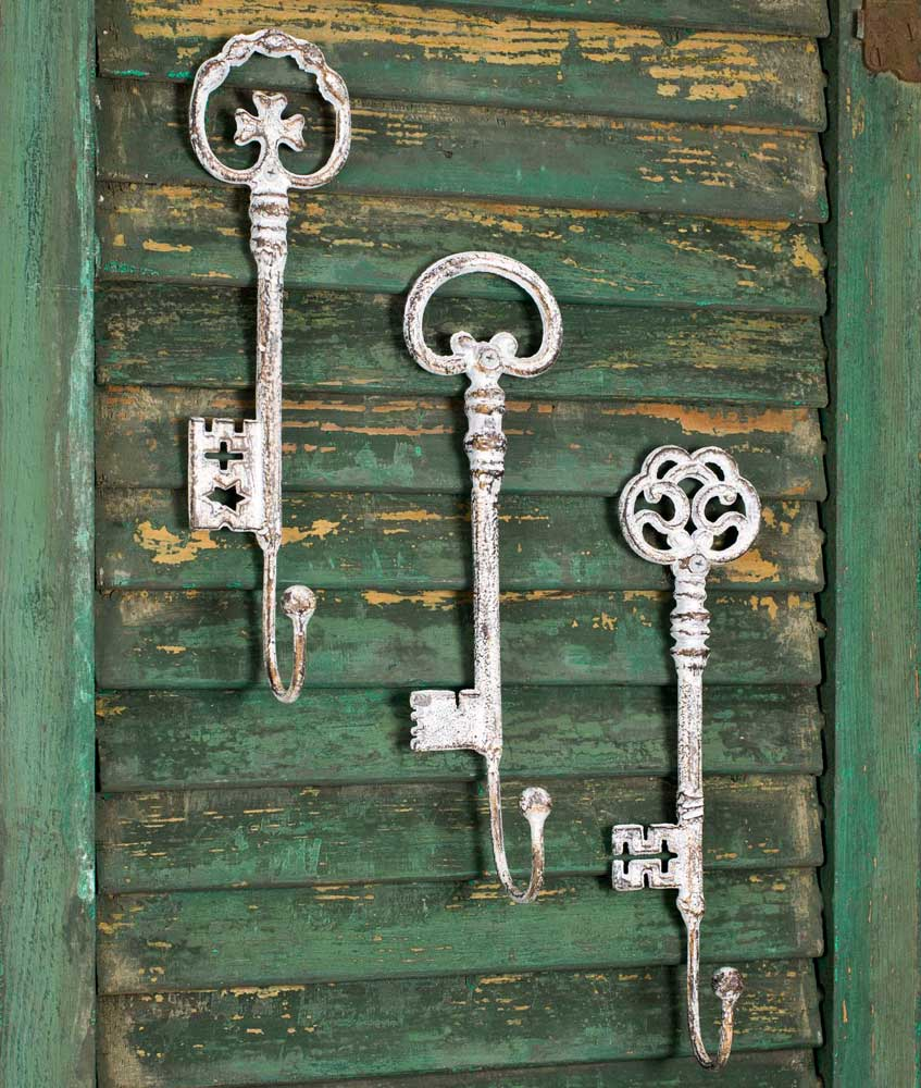 Set of Three Oversize Key Hooks