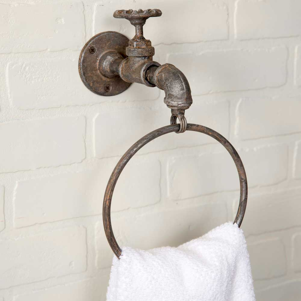 Water Spigot Towel Ring Set of Two