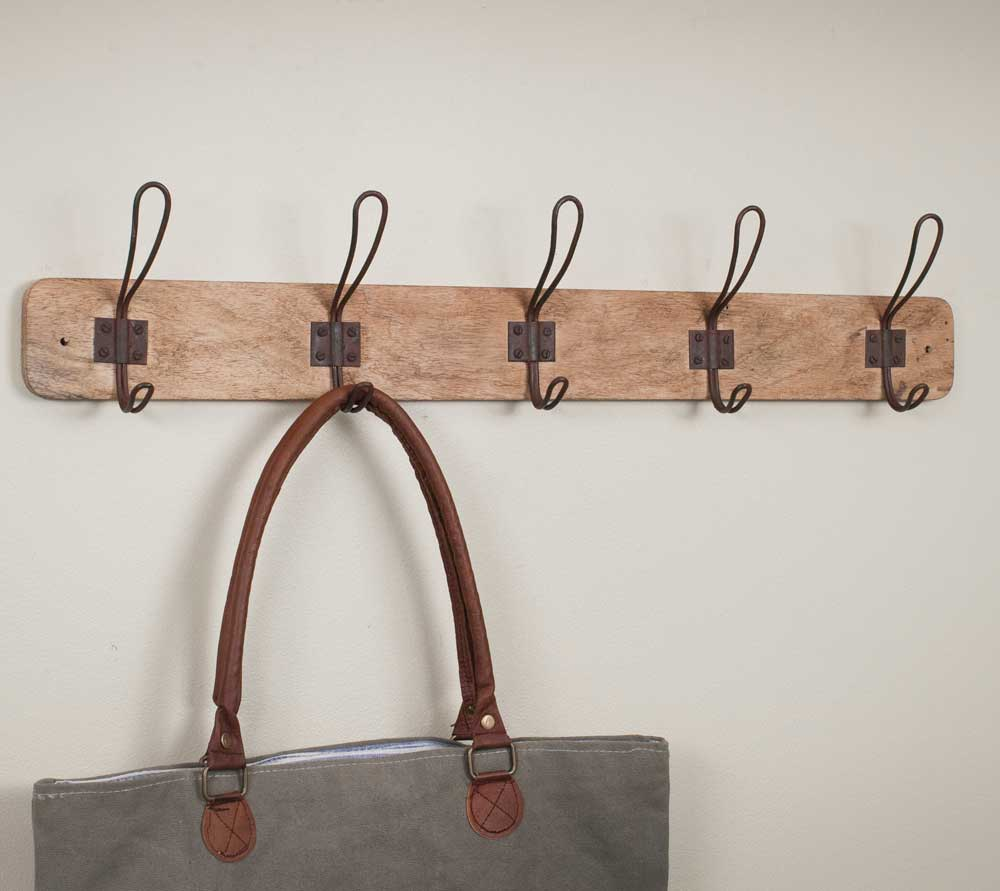 Set of Two Wood Entryway Rack