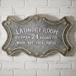 "Future Ship 01/15 - ""Laundry Room"" Metal Sign"