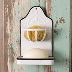 Metal Wall Soap and Sponge Holder Set Of Two