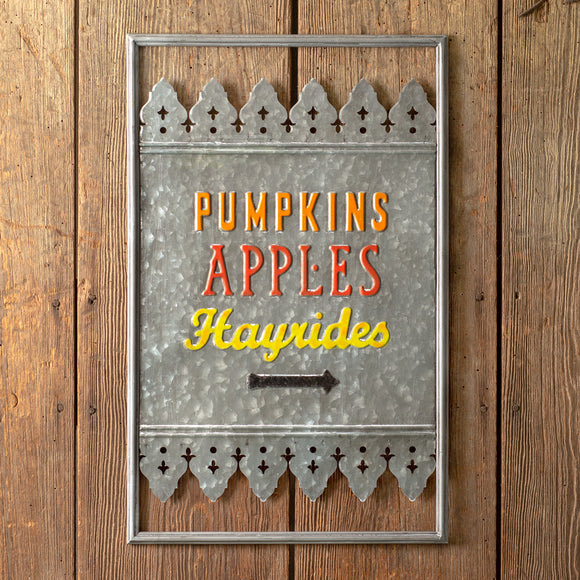 Fall Fun Metal Wall Sign