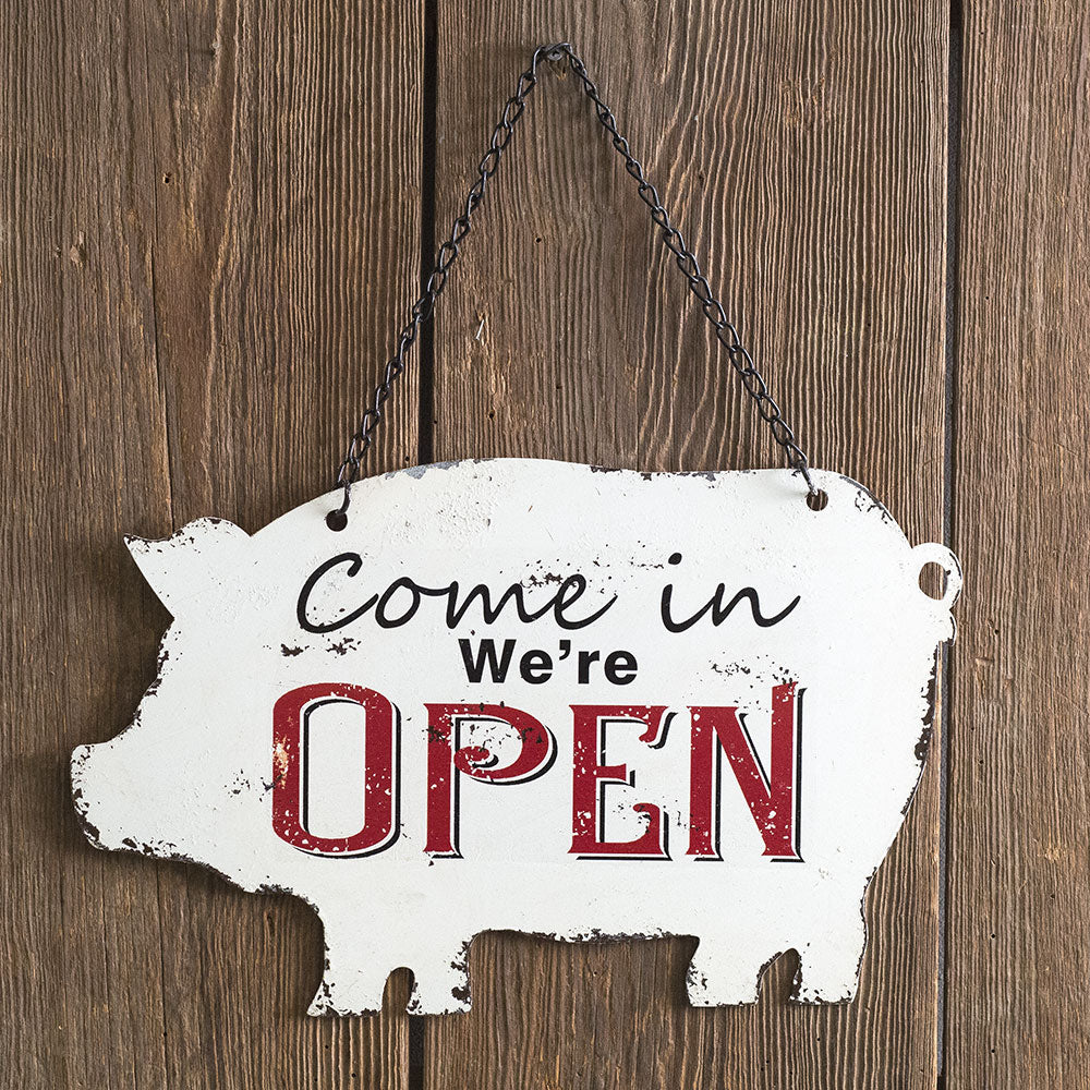 Store Open/Closed Metal Sign