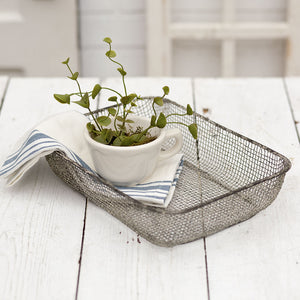 Woven Wire Table Basket  Set of 2