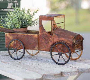 Rusty Pickup Truck Planter