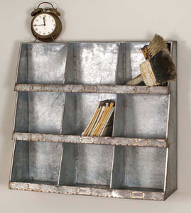 Galvanized Wall Cubbies