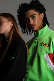 90's Japanese Neon Champion Track Jacket