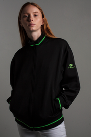 90's Japanese Black/Neon Champion Track Jacket